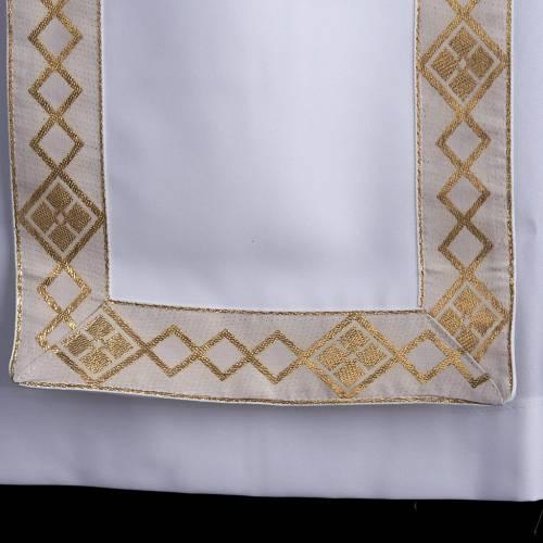 First communion alb for girl scapular golden edges s3