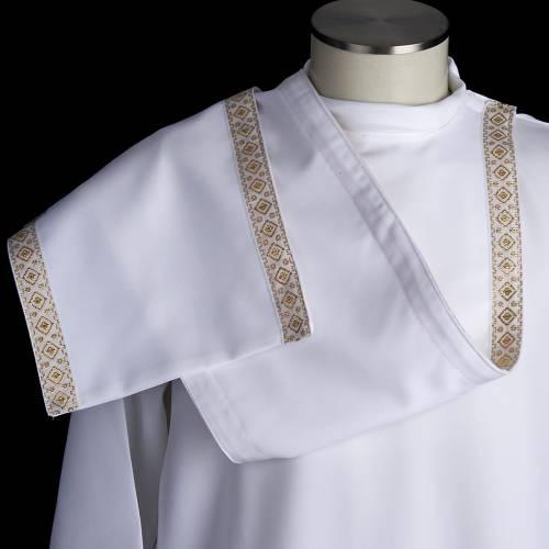 First communion alb for girl scapular thin golden edges s8
