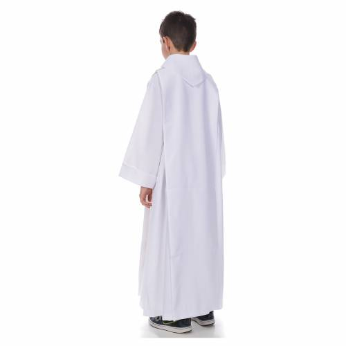 First Communion alb with golden hem for boy s3