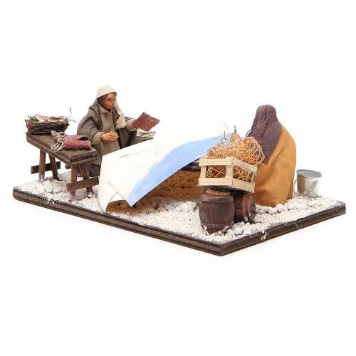 Fishermen with boat, Neapolitan nativity figurine 10cm s2