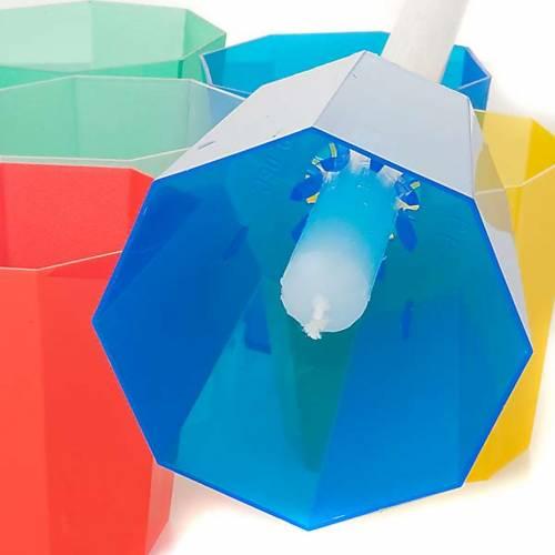 Flambeaux en plastique colorée 20 pcs s3