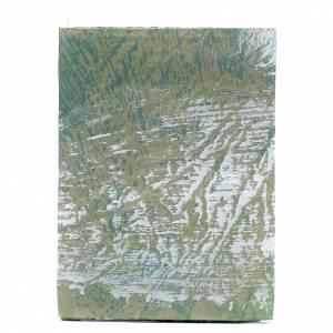 Muschio, licheni, piante, pavimentazioni: Foglio carta per presepi dipinto a mano roccia 70x100 cm