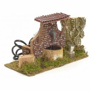 Fontaine crèche bois et liège 10x21x13 cm s2