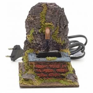 Fontaine électrique avec roche pour crèche s1