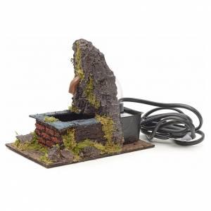 Fontaine électrique avec roche pour crèche s2
