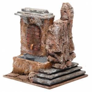 Fontaine électrique crèche rocher 18x16x16 cm s2