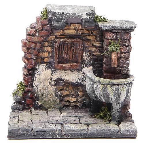 Fontaine électrique en résine crèche 13x13x12 cm s1