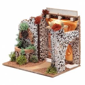 Fontane Presepe: Fontana elettrica in ambiente presepe di dimensioni 15x20x15 cm