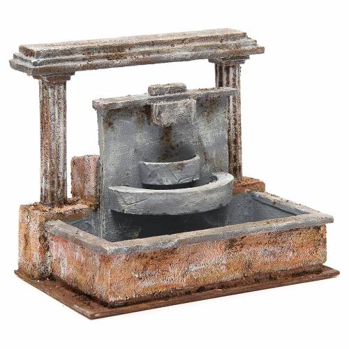 Fontana presepe 2 colonne effetto cascata 20x25x15 cm s3