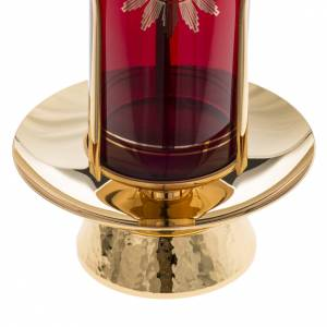 Foot for Blessed Sacrament glass, gold-plated brass s4