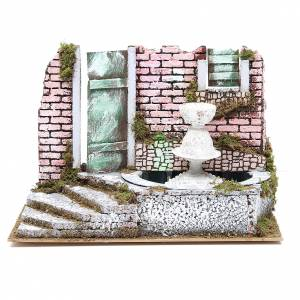 Fountains: Fountain for nativities with 4 coloured LED lights 22.5x33x18cm