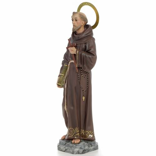 Francis of Assisi wooden paste 40cm, fine finish s2