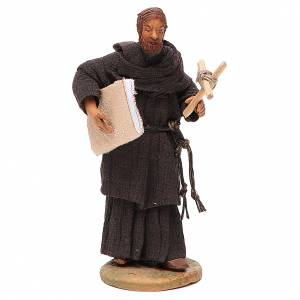 Friar, Neapolitan nativity figurine 12cm s1