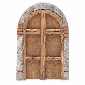 Balustrade, doors, railings: Front Door arched 18x12cm