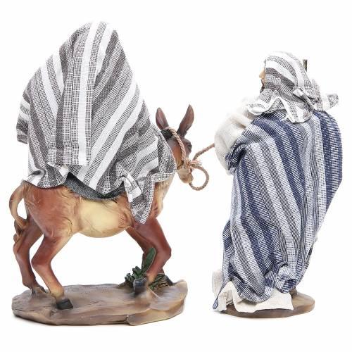 Fuite en Égypte 24 cm 2 pcs résine fin. Grey Beige s3