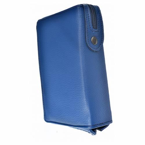 Funda Biblia CEE grande azul simil cuero Misericordioso s2