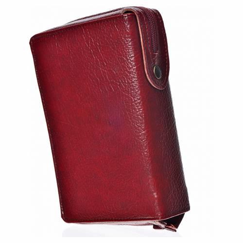 Funda Biblia CEE grande. burdeos simil cuero Virgen s2