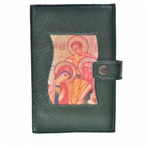 Funda Biblia CEE grande S. Familia simil cuero verde s1