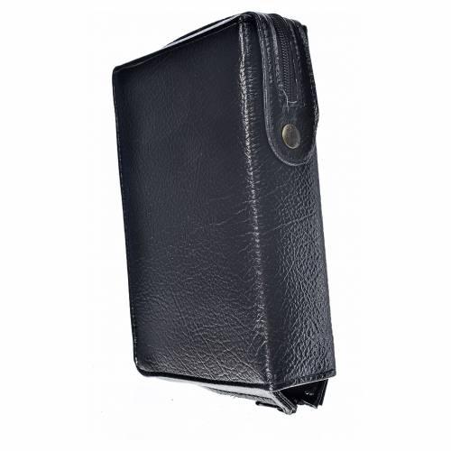 Funda Biblia CEE grande simil cuero negro Divina Misericordia s2