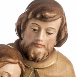 Heilige Familie: Geburt des Friedens Grödnertal Holz