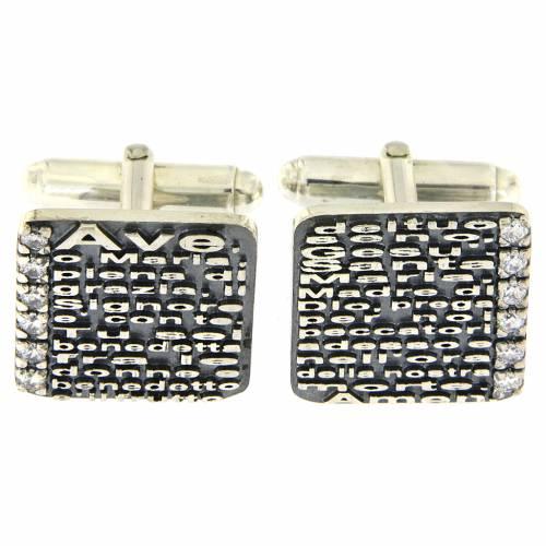 Gemelli Ave Maria AMEN argento 925 e zirconi s1