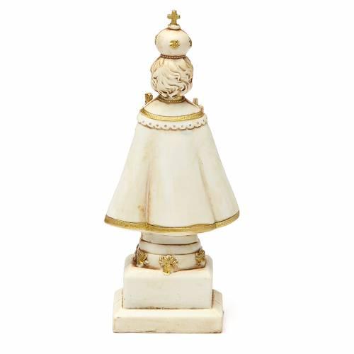 STOCK Gesù Bambino di Praga 15 cm gesso avorio s2