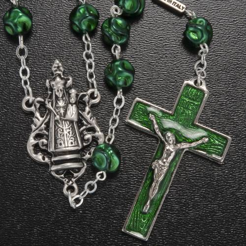 Ghirelli green rosary Our Lady of Loreto 8 mm s2