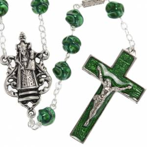 Ghirelli green rosary Our Lady of Loreto 8 mm s1