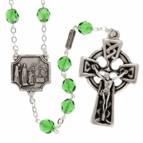 Ghirelli rosary Knock half-crystal green 7 mm s1