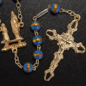 Ghirelli rosary Lourdes Grotto, blue-yellow 7mm s2