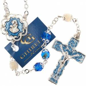Ghirelli collection rosary beads: Ghirelli rosary mother-of-pearl Pater Noster beads