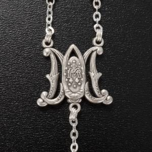 Ghirelli rosary, olive wood Marian symbol 5x7mm s5