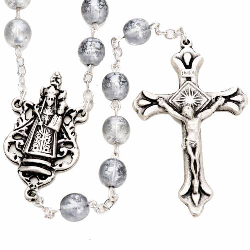Ghirelli rosary, silver, Our Lady of Loreto s1