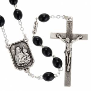 Ghirelli collection rosary beads: Ghirelli rosary St. Clare and St. Francis wood 8x6 mm