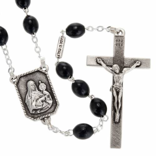 Ghirelli rosary St. Clare and St. Francis wood 8x6 mm s1