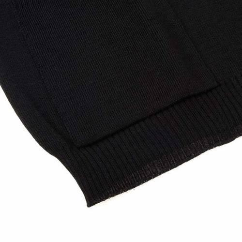 Gilet ouvert avec poches, noir s4