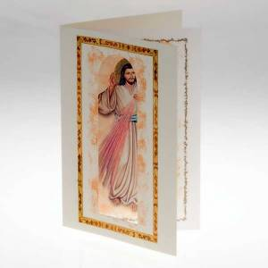 Glückwunschkarten: Glückwunschkarte mit Pergament Jesu Barmherzigkeit
