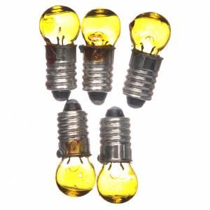 Lichter und Laterne für Krippe: Glühbirne E5,5 gelb 5 Stk. 3v.