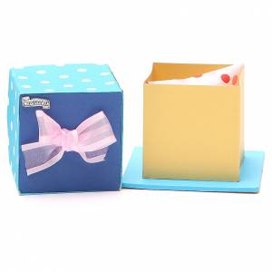 Crosses and magnets: God's caresses box with pink ribbon, Medjugorje