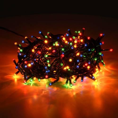 Guirlande de Noël 300 mini ampoules multicolore inté s2
