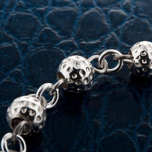 Hammered ten-bead bracelet silver 800 2
