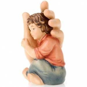 Statuen aus gemalten Holz: Hand Gottes und Kind