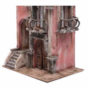 Haus für Krippe mit Treppe und Balkon 35x30x20cm s2
