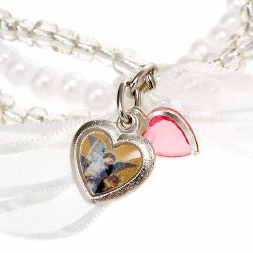 Heart and angels bracelet for babies s4