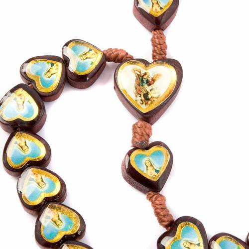 Heart-shaped beads multi-image rosary s3