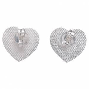 Anhänger, Kreuze, Broschen: Herz Ohrringe AMEN Silber 925 mit Gravierung