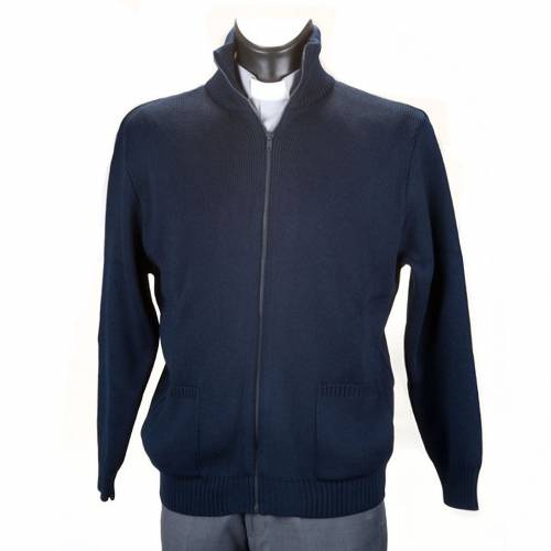 High-neck blue jacket s1