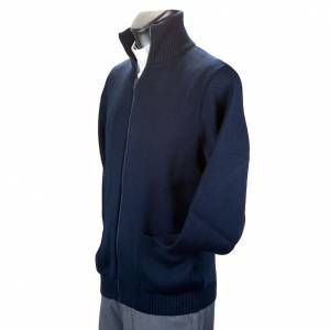 High-neck blue jacket s4