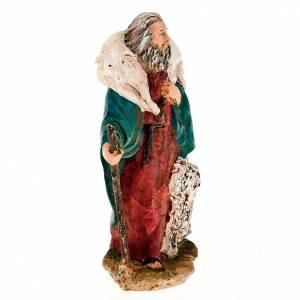 Krippenfiguren: Hirte mit Schaf und Hund 13cm