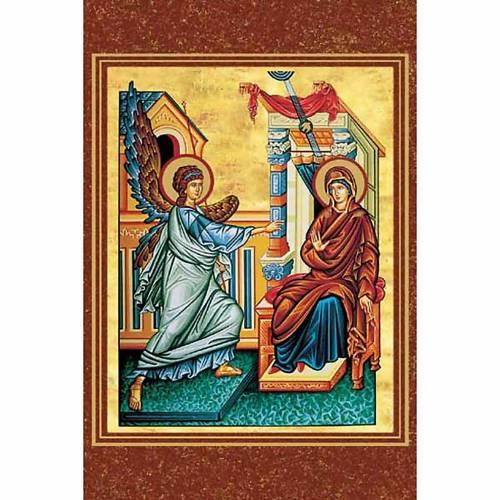 Holy card, byzantine Annunciation s1